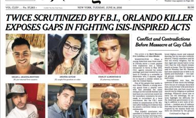 Orlando, stampa Usa: ora lasciamo che Fbi faccia quello che deve fare, senza paura