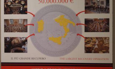 Opere d'arte rubate, a Roma la mostra con 210 pezzi recuperati