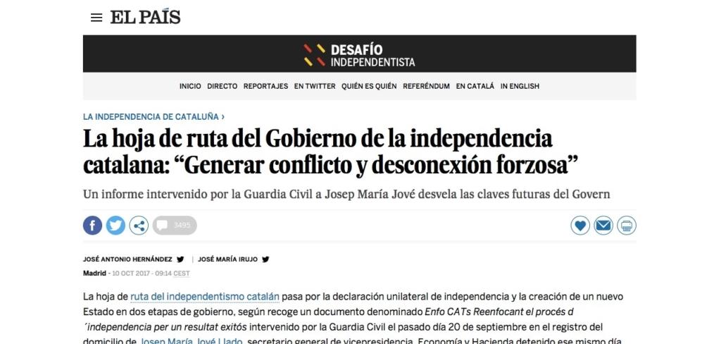 Catalogna, El Paìs choc: ecco il piano segreto degli indipendentisti