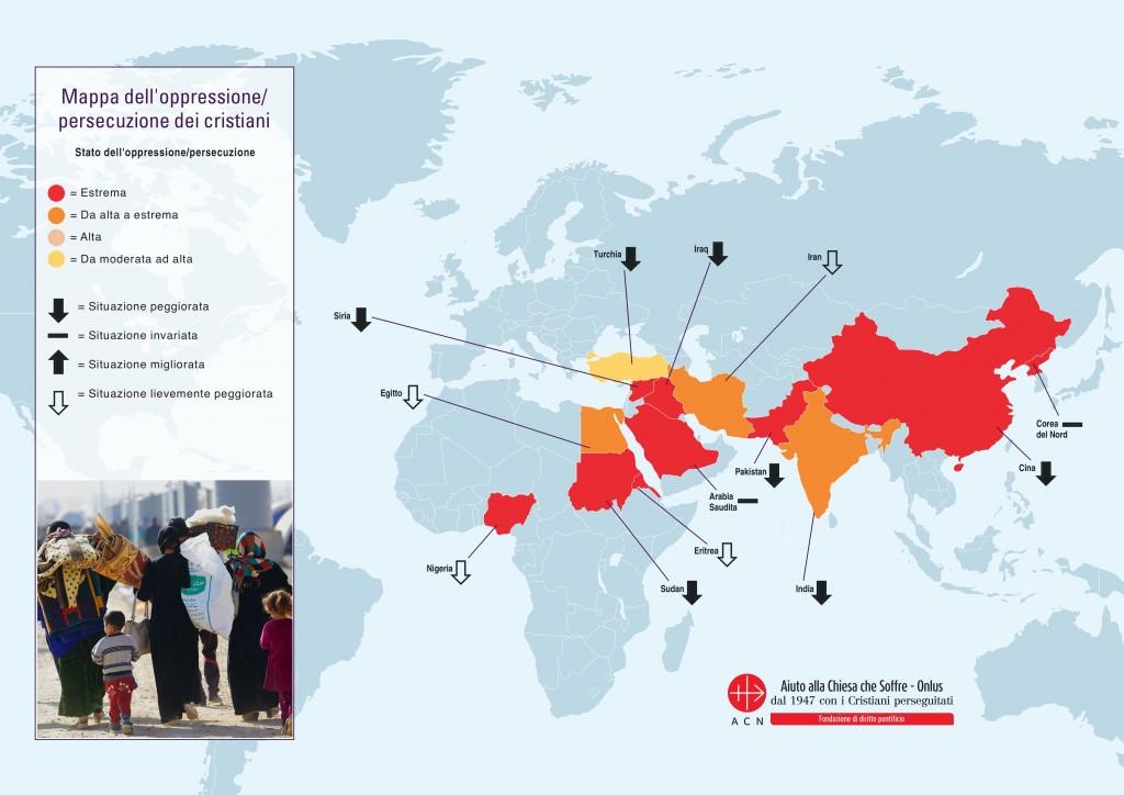 Dossier Acs: in aumento i cristiani perseguitati nel mondo