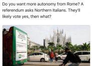 New York Times agli italiani del nord: volete più autonomia da Roma?