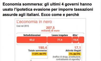 Scenarieconomici: economia sommersa? Usata da 4 governi per imporre assurde tassazioni