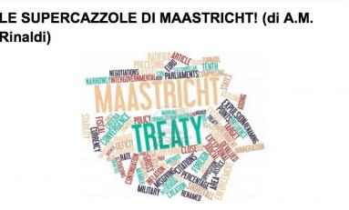 """Scenarieconomici: """"Le supercazzole di Maastricht"""""""