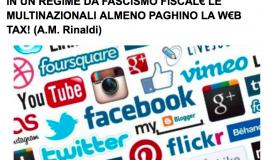 """Scenarieconomici: """"In regime di fascismo fiscale multinazionali paghino Web tax"""""""