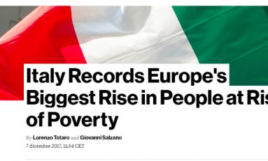 Bloomberg: l'Italia è il paese Ue con il più alto rischio di povertà