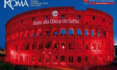Cristiani perseguitati, Acs accende di rosso il Colosseo