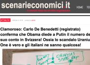 """Scenarieconomici: """"Obama diede a Putin il suo numero di conto in Svizzera"""""""