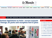 Elezioni, testate estere: voto italiano anti Europa
