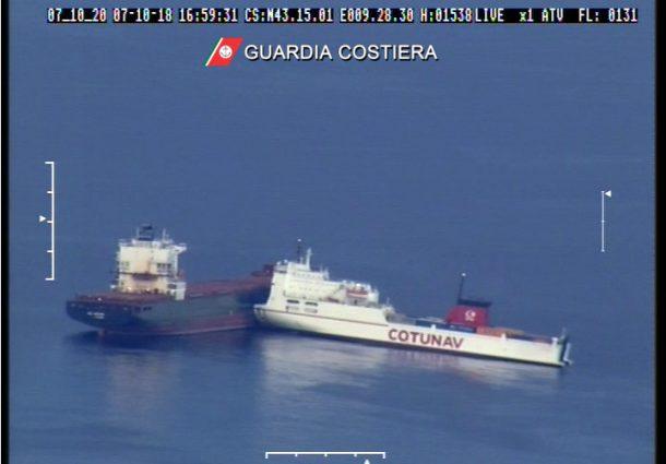 Corsica, scontro tra due mercantili: rischio disastro ambientale