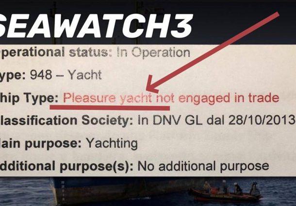 Sea Watch: fermo amministrativo da parte della Guardia Costiera