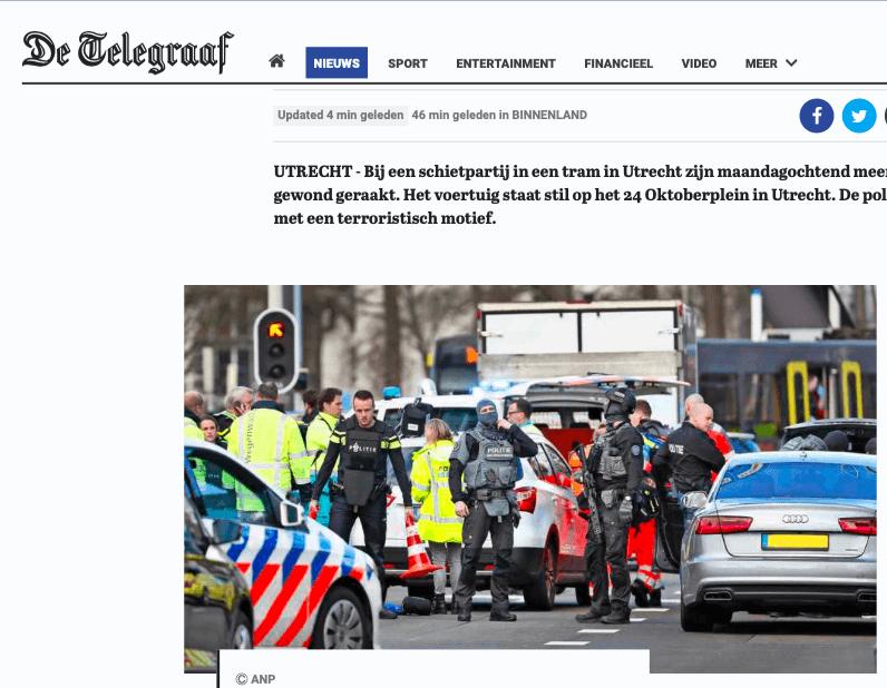 Olanda: uomo spara su passeggeri tram a Utrecht