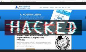 Cyber: attaccato il sito dell'Accademia italiana privacy