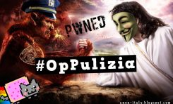 Cyber: Anonymous torna a colpire le forze dell'ordine