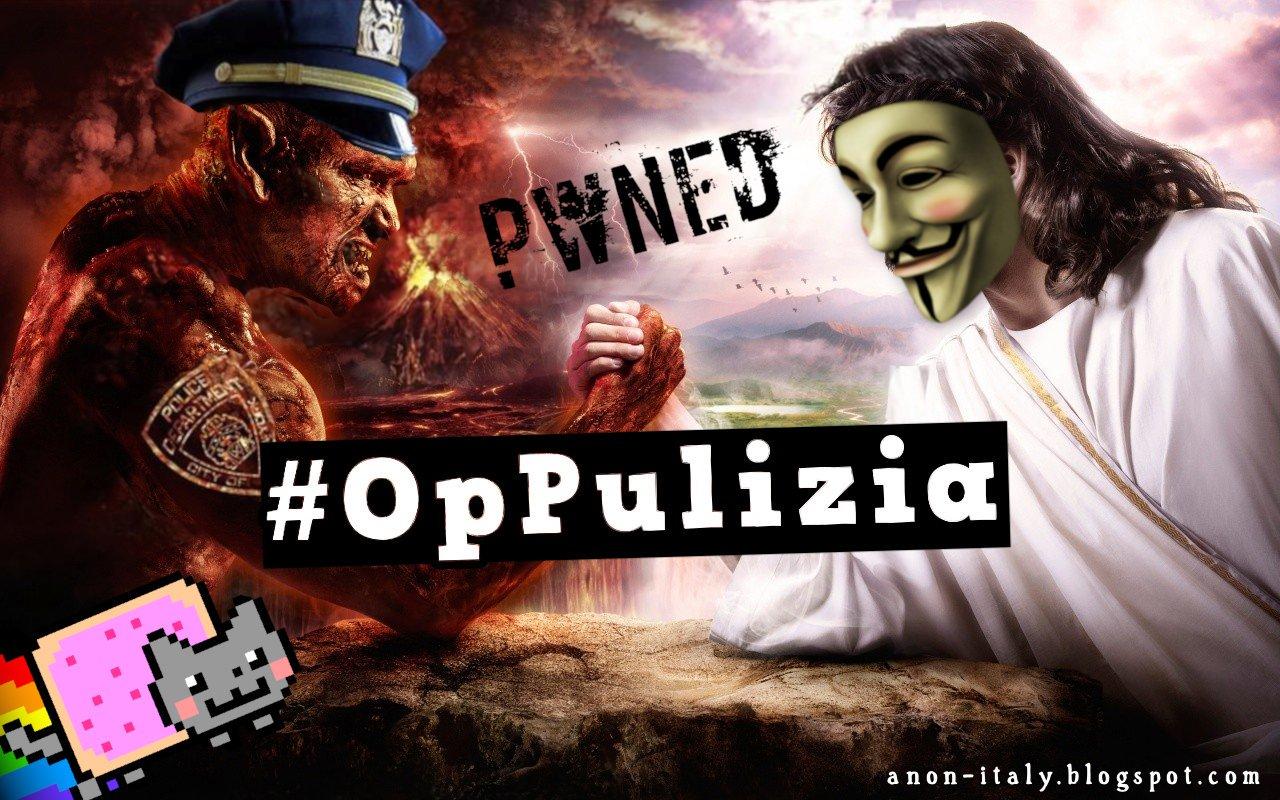 Cyber: Anonymous torna a colpire le forze dell'ordine