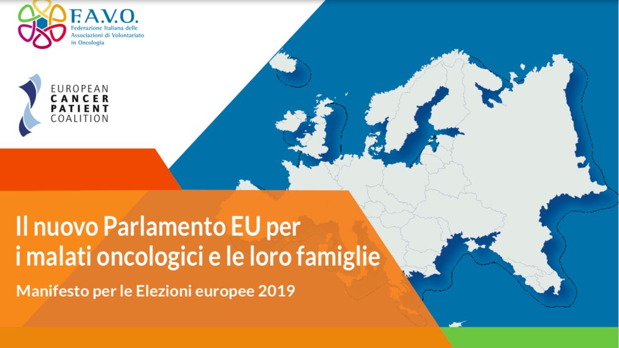 Europee: nasce il manifesto dei malati oncologici