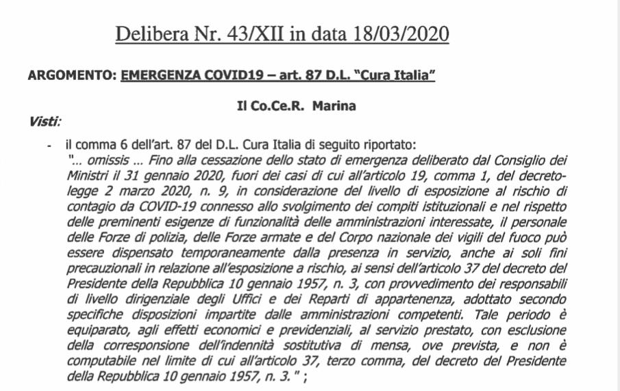 comma 6 art.87 dl Cura Italia